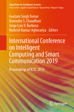 International Conference on Intelligent Computing and Smart Communication 2019: Proceedings of Icsc 2019-cover