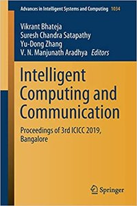 Intelligent Computing and Communication: Proceedings of 3rd ICICC 2019, Bangalore-cover