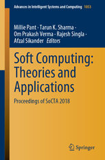 Soft Computing: Theories and Applications: Proceedings of Socta 2018-cover