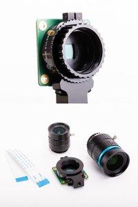 Raspberry Pi High Quality Camera 高畫質相機模組(含6mm廣角鏡頭 + 16mm 長焦段鏡頭)-cover