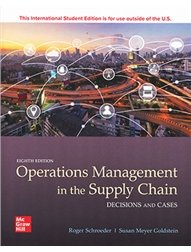 Operations Management in the Supply Chain: Decisions and Cases, 8/e (IE-Paperback)-cover