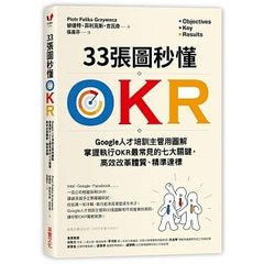 33張圖秒懂 OKR:Google 人才培訓主管用圖解掌握執行 OKR 最常見的七大關鍵,高效改革體質、精準達標-cover