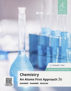Chemistry: An Atoms First Approach, 3/e (AE-Paperback)