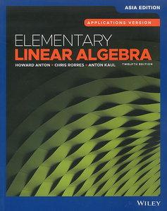 Elementary Linear Algebra, 12/e (AE-Paperback)-cover