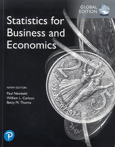 Statistics for Business and Economics, 9/e (GE-Paperback)-cover