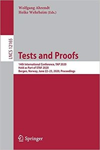 Tests and Proofs: 14th International Conference, Tap 2020, Held as Part of Staf 2020, Bergen, Norway, June 22-23, 2020, Proceedings