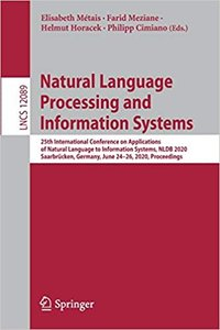Natural Language Processing and Information Systems: 25th International Conference on Applications of Natural Language to Information Systems, Nldb 20-cover