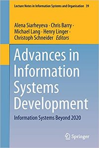 Advances in Information Systems Development: Information Systems Beyond 2020-cover