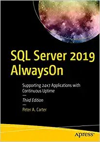 SQL Server 2019 Alwayson: Supporting 24x7 Applications with Continuous Uptime-cover