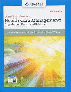 Shortell & Kaluzny`s Health Care Management, 7/e (IE-Paperback)-cover