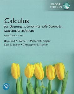 Calculus for Business, Economics, Life Sciences, and Social Sciences, 14/e (IE-Paperback)
