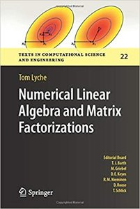Numerical Linear Algebra and Matrix Factorizations-cover