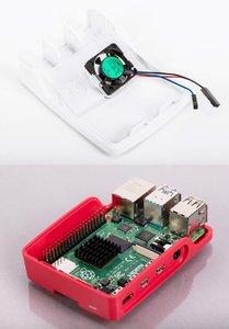 Raspberry Pi 4 原廠紅白外殼 + Case Fan 外殼風扇模組-cover