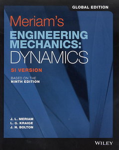 Meriam`s Engineering Mechanics: Dynamics, 9/e (SI Version) (GE-Paperback)-cover