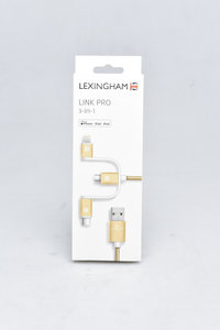 樂星翰-Lightning MFI認證 / Micro USB / Type-C 三合一充電傳輸線(1M)-cover